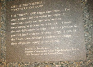 From the Holocaust Monument...