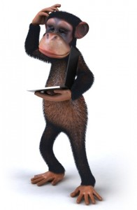 Do monkeys put their info on the net. No They Dont.